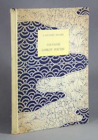 HEARN, LAFCADIO. 1850-1904. Japanese Goblin Poetry. Tokyo: Oyama, 1934.