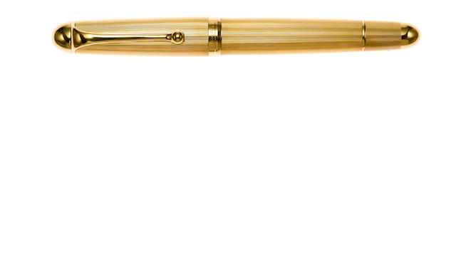 AURORA: Lot of Two Gold-Plated Fountain Pens