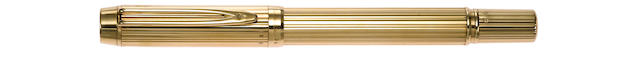 WATERMAN: Man 100 Solid 18K Gold Fountain Pen
