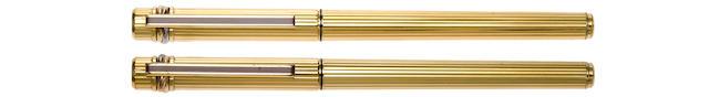 CARTIER: Must de Cartier Gold-Plated Fountain Pen & Ballpoint Set