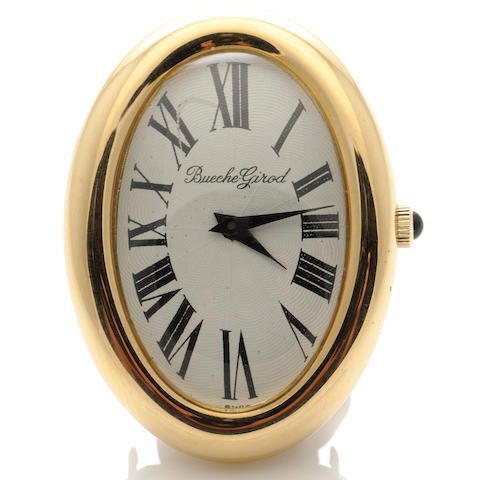 An 18k gold watch, Bueche Girod