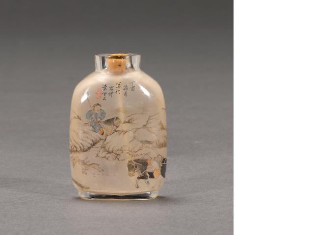 An inside painted snuff bottle Ye Zongsan, dated 1897