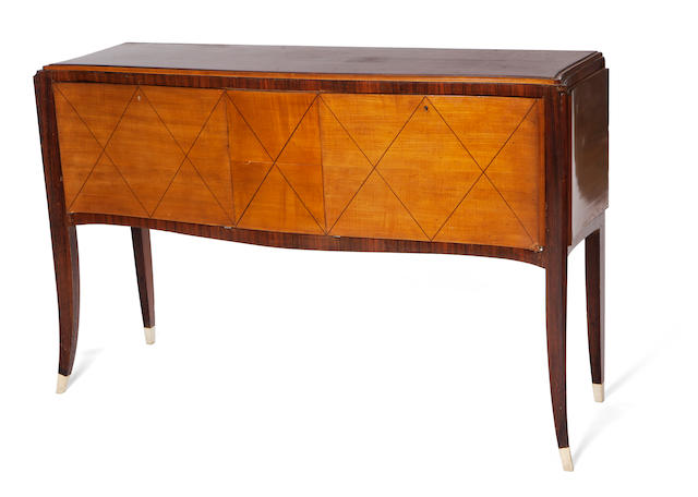 A French Art Deco mahogany sideboard  circa 1935