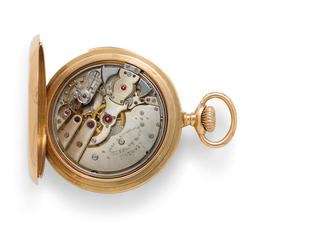 Tiffany & Co. A fine 18K rose gold open face minute repeating watchNo. 78746, last quarter 19th century