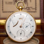 Thomas Engel. A fine 18K gold open face lever chronometer with power reserve, thermometer and weekly calendarChronometre – Type Concours Observatoire, No. 25, 1980's