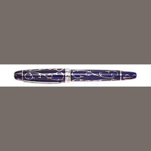 MICHEL PERCHIN: Monogram Blue Limited Edition 1000 Fountain Pen