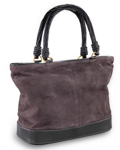 Two suede and leather handbags, Renaud Pellegrino