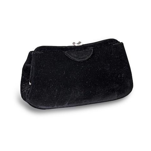 A black velvet clutch, Giorgio Armani