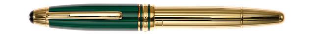 MONTBLANC: Meisterstuck Czar Nikolai I Malachite & Vermeil Fountain Pen