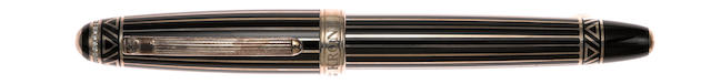 KRONE: Black Tie with Diamonds Limited Edition 388 Fountain Pen