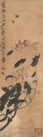 Qi Baishi (1863-1957) Flowers and Bees