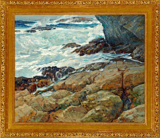 William Frederick Ritschel (American, 1864-1949) No Man's Land ('Dat Devil Sea) 50 x 60in