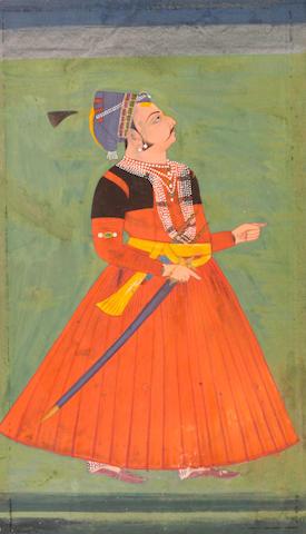 Portrait of Abhai Singh Jodhpur, 18th century