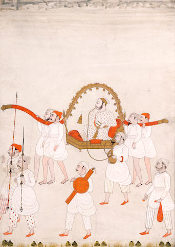 Nobleman in a palanquin Deccan, mid 18th century