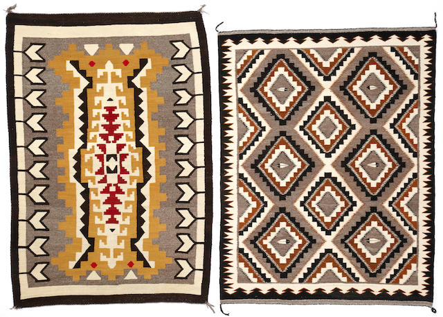 Two Navajo rugs