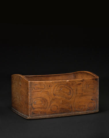 A Northwest Coast bentwood box