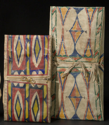 Two Plains parfleche envelopes
