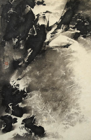 Liu Guosong (Liu Kuo-Song) b. 1932 Abstract Landscape, 1963