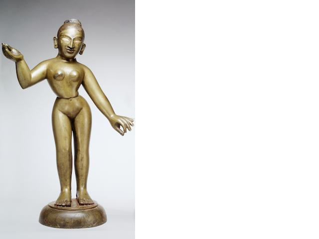 A bronze figure of Radha Bengal, India, 19th century