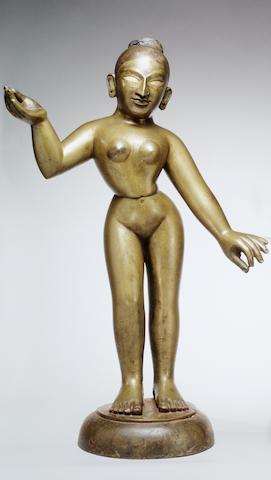 A bronze figure of Radha Bengal, India, 19th century