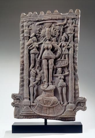 A terracotta panel of a Yakshi North or Eastern India, Sunga period, c. 200,,50 B.C.