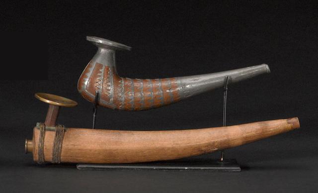 Two Eskimo pipes