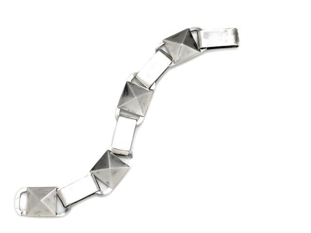 A Jean Despres  silver  link bracelet Paris, circa 1930