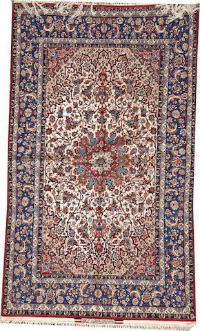 An Isphahan carpet South Central Persia size approximately 4ft. 10in. x 8ft. 1in.