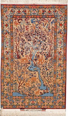 A Isphahan rug  South Central Persia size approximately 3ft. 3in. x 5ft. 2in.