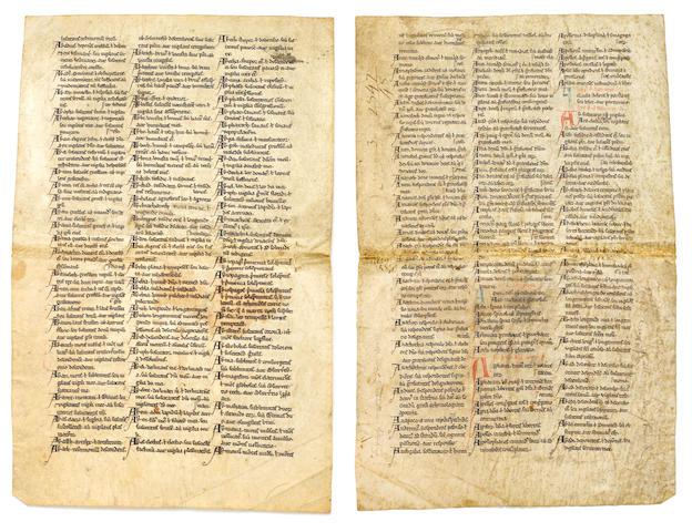 LEAVES— ENGLISH. LANGTON, STEPHEN. c.1150-1228.