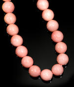 Impressive Pink Opal Bead Necklace