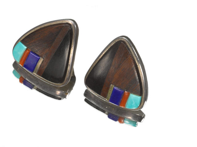 A pair of Hopi earrings