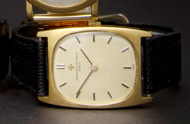 Vacheron & Constantin. An 18K gold wristwatchRef:7813, Case no. 472100, Movement no. 843587