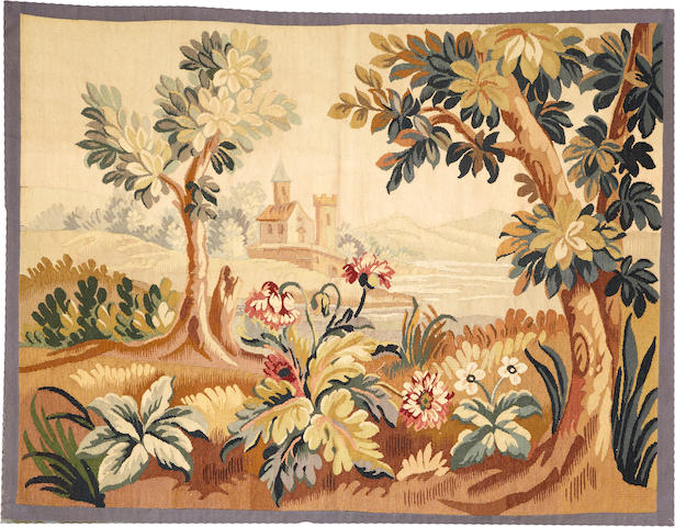 An Aubusson tapestry France  size approximately 3ft. 10in. x 5ft.
