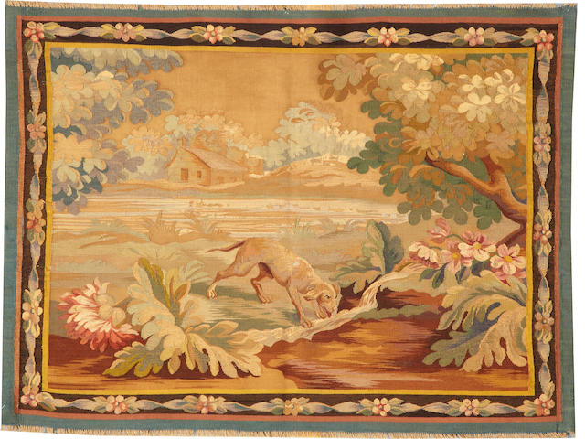 An European tapestry late 19th century size approximately 2ft. 10in. x 3ft. 7in.