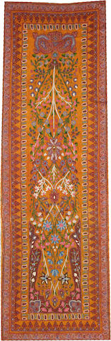 A Termeh hanging Central Persia size approximately 2ft. 10in. x 8ft. 10in.