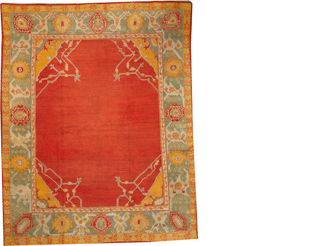 An Oushak carpet West Anatolia size approximately 10ft. 1in. x 12ft. 6in.