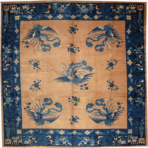 A Chinese carpet  China size approximately 13ft. 1in. x 13ft. 4in.