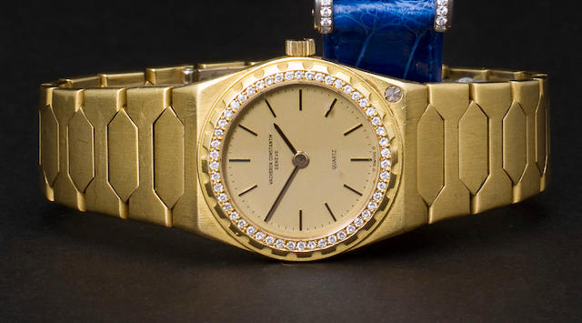 "Vacheron & Constantin. A fine 18K gold diamond set lady's bracelet watch""222"", Case no. 551490"