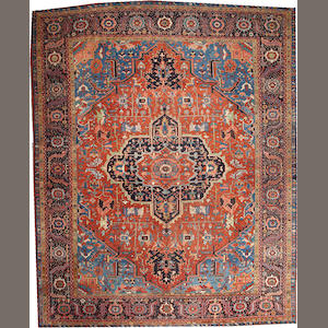 A Heriz carpet  Northwest Persia size approximately 11ft. 6in. x 14ft. 6in.