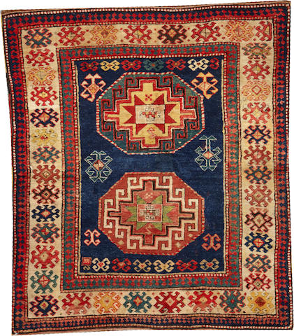 A Kazak rug Caucasus size approximately 4ft. 11in. x 5ft. 9in.