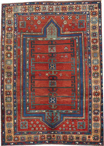 A Kazak rug Caucasus size approximately 6ft. 1in. x 8ft. 3in.