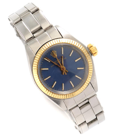 A stainless steel and gold bracelet wristwatch, Rolex