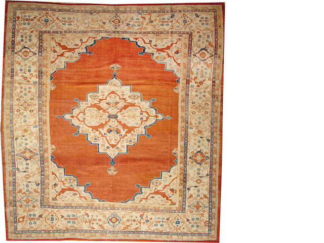A Sultanabad carpet  Central Persia size approximately 11ft. 10in. x 12ft. 9in.