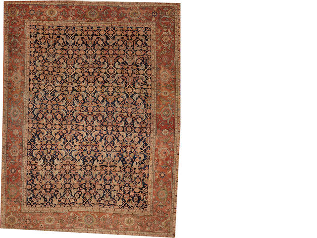 A Tabriz carpet  Northwest Persia size approximately 7ft. 10in. x 10ft. 1in.