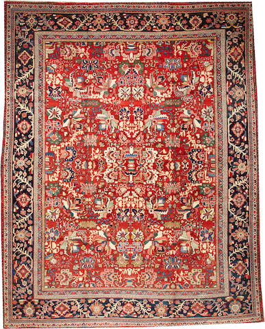 A Mahal carpet  Central Persia size approximately 10ft. 6in. x 13ft. 4in.
