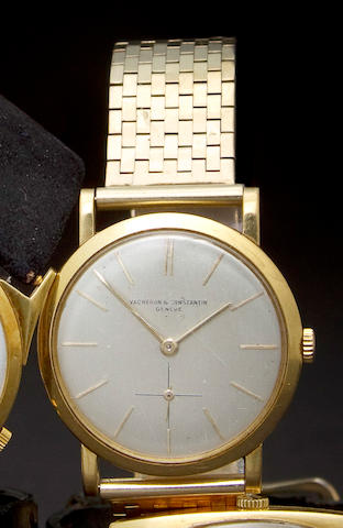 Vacheron & Constantin. A fine 18K gold wristwatch and a 14K gold braceletCase no. 330864, Movement no. 498553, circa 1950