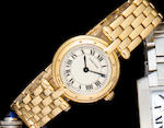 Cartier. An 18K gold lady's bracelet watchVendôme, No. 8669204305