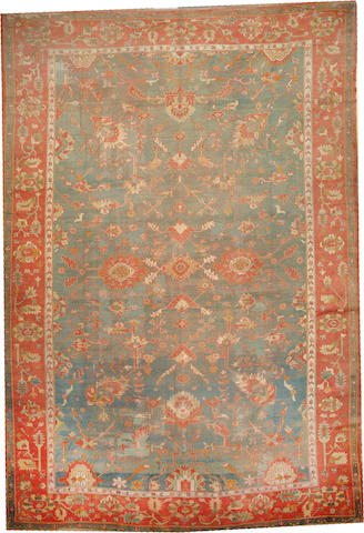 An Oushak carpet West Anatolia size approximately 13ft. 2in. x 19ft. 7in.