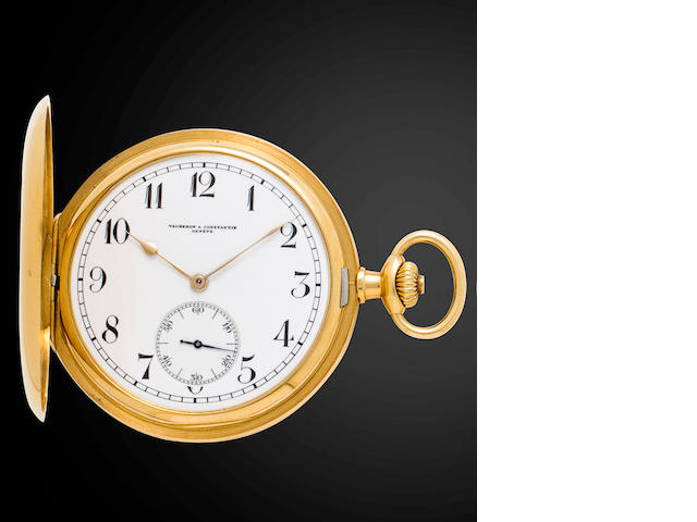 Vacheron & Constantin. Genève. A fine 18K gold hunter cased keyless lever dress watchCase No. 225985, Movement No. 362064, circa 1912